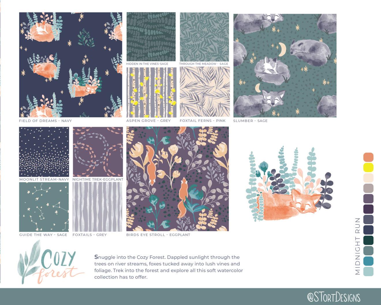 Cozy Forest STortDesigns - Midnight Run
